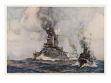 German Warships 1907 Giclee Print