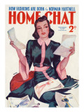 Home Chat Magazine Cover Giclee Print by David Wright