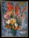 Bouquet de Fleurs Prints by Marc Chagall