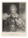 Frances Abington Actress, with Her Dog, Giclee Print