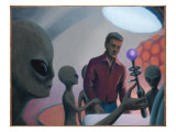 Imaginary Abduction Giclee Print by Michael Buhler