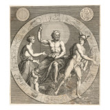 Greek Gods: Aphrodite, Cupid, Zeus and Hermes Giclee Print