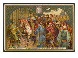 Henry V, Newly Crowned, Rejects Falstaff : 'I Know Thee Not, Old Man.' Giclee Print