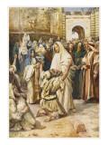 Jesus Heals Blind Bartimaeus (Bartimeus) Giclee Print