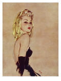 Golden Girl Giclee Print by David Wright