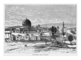 General View of the Mosque, also known as the Dome of the Rock Giclee Print