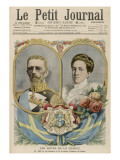Gustav V King of Sweden (1907-50) with His Wife Victoria, Princess of Baden Giclee Print