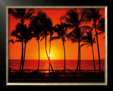 Hawaiian Sunset Framed Giclee Print by Randy Jay Braun