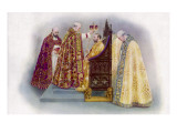 George V He Is Crowned by the Archbishop of Canterbury in Westminster Abbey Giclee Print