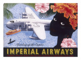 Imperial Airways Speeding Up the Empire Giclee Print