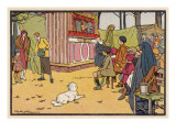 Guignol in French Park Giclee Print