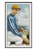 Joseph Marshall, Jockey, in the Colours of Mrs C Rich Giclee Print