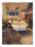Jesus Has Supper with His Disciples for the Last Time Giclee Print