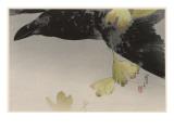 Japanese Print - Crow Giclee Print by Robert Gillmor