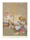 Girl and Dolls House 1922 Giclee Print