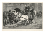 Horse-Drawn Fire-Engine Giclee Print