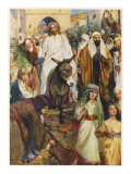 Jesus, Riding a Donkey, Enters Jerusalem Giclee Print