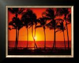 Hawaiian Sunset Framed Giclee Print by Randy Jay Braun