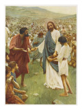Jesus Feeds 5000 Giclee Print