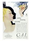 Full Page Colour Advertisement for Gal Toilet Soap from 1929 Giclee Print