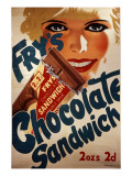 Fry's Chocolate Sandwich Advert Giclee Print
