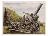 Giant Cannon known Affectionately as Big Bertha Giclee Print