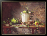 Pears and Tapestry Prints by Del Gish
