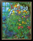 Le Bouquet Ardent Print by Marc Chagall