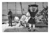 Heaving the Log on SS 'Malwa', 1879 Giclee Print