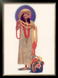 Honolulu Lei Vendor Framed Giclee Print