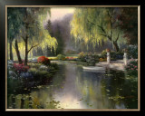 Willow Park Lake Art by T. C. Chiu