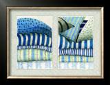 Les Tissus Bleus Print by Babey Zographos
