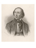 Hans Christian Andersen Danish Author Giclee Print