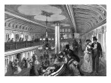 Grand Saloon of an American Steam-Boat, 1875 Giclee Print