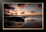 Sunset, Cantabria Print by Marina Cano