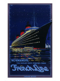 French Line Poster for the Ss Normandie Ocean Liner, 'the World's Most Perfect Ship' Giclee Print