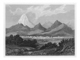 General View of Tehran Showing the Surrounding Mountains Giclee Print