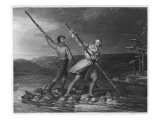 He Crosses the Alleghany River Giclee Print