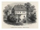 Immanuel Kant German Philosopher: His Home at Konigsberg, Germany Giclee Print