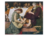 Jesus Washes Peter's Feet at Passover Giclee Print