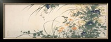 Design of Morning Glories, Dianthus, and Other Flowers Prints by Utagawa Toyohiro