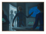 Hill Alien Abduction Giclee Print by Michael Buhler