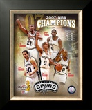2007 Spurs NBA Champions Composite Framed Photographic Print
