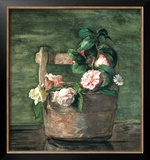 Camellias and Roses in Japanese Vase Prints by John Lafarge