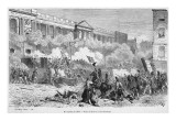 Insurgents Attack the Royal Residences of the Tuileries and Louvre Giclee Print