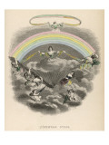 Iris, the Goddess of the Rainbow, Spreads Her Fan Giclee Print
