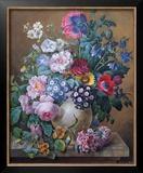 Rich Still Life of Summer Flowers Art by Camille de Chantereine