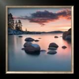 Sand Harbor Sunset Posters by Elizabeth Carmel