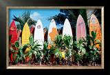 Old Surfboards Never Die Posters by Bernard Fickert