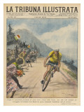 Italian Champion Gino Bartali Is Applauded by Spectators from His Own Country Giclee Print